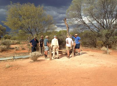 Group discussion on the Canning Stock Route on Cunyu (Kane Watson)
